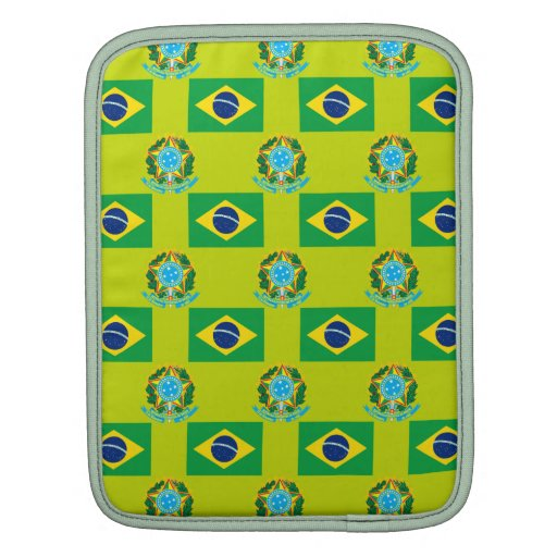 Flag and Crest of Brazil iPad Sleeves