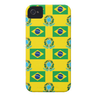 Flag and Crest of Brazil iPhone 4 Case-Mate Case