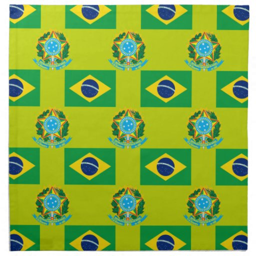 Flag and Crest of Brazil Cloth Napkin