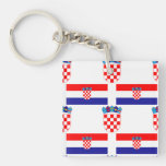 Flag and Crest of Croatia Acrylic Key Chains