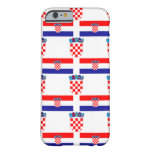 Flag and Crest of Croatia Barely There iPhone 6 Case