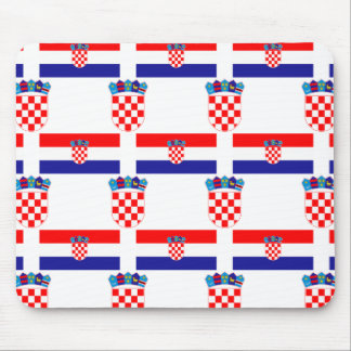 Flag and Crest of Croatia Mouse Pad