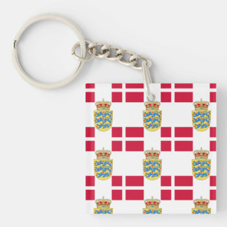 Flag and Crest of Denmark Keychain