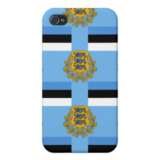 Flag and Crest of Estonia Case For iPhone 4
