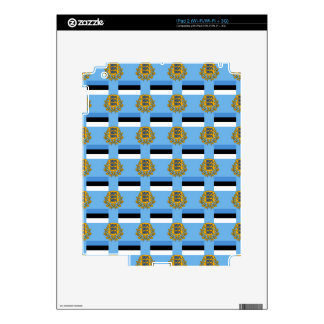 Flag and Crest of Estonia iPad 2 Decal
