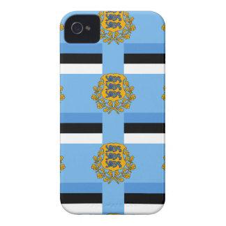 Flag and Crest of Estonia iPhone 4 Case-Mate Case