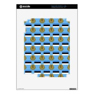 Flag and Crest of Estonia Skin For iPad 2