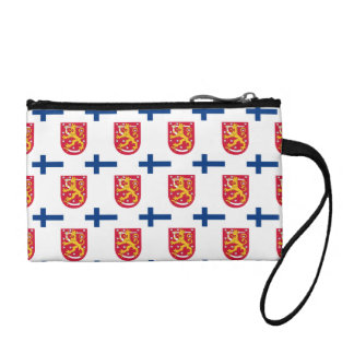Flag and Crest of Finland Coin Wallet