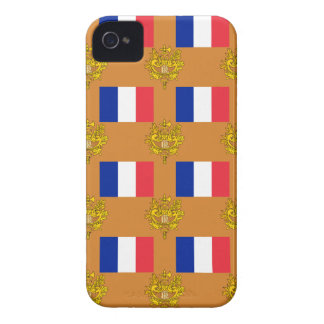 Flag and Crest of France iPhone 4 Case