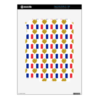 Flag and Crest of France Skin For The iPad 2