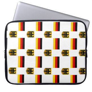 Flag and Crest of Germany Computer Sleeve
