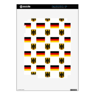 Flag and Crest of Germany iPad 2 Decals