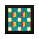 Flag and Crest of Guinea Keepsake Box