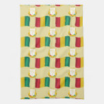 Flag and Crest of Guinea Kitchen Towels