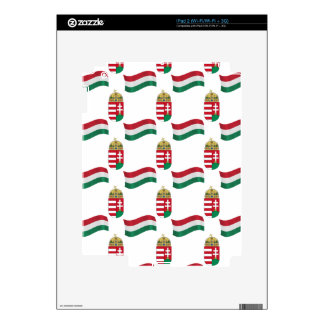Flag and Crest of Hungary iPad 2 Decal