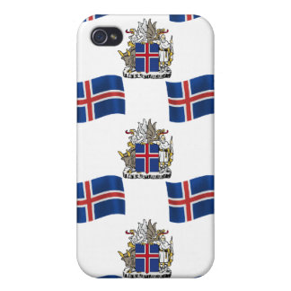 Flag and Crest of Iceland iPhone 4/4S Cover