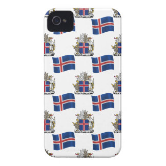 Flag and Crest of Iceland iPhone 4 Case-Mate Case