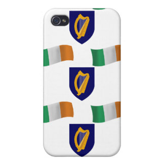 Flag and Crest of Ireland Case For iPhone 4