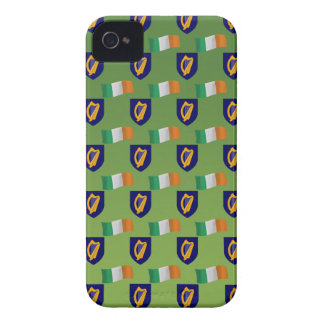 Flag and Crest of Ireland on Green iPhone 4 Case