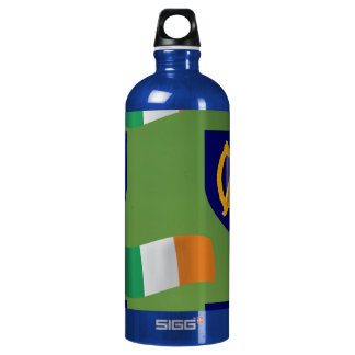 Flag and Crest of Ireland on Green SIGG Traveler 1.0L Water Bottle