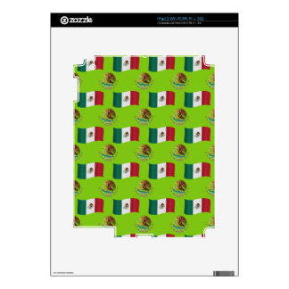 Flag and Crest of Mexico Skin For The iPad 2