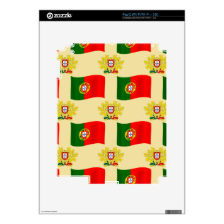 Flag and Crest of Portugal iPad 2 Decal