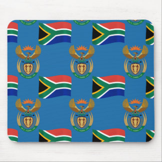Flag and Crest of South Africa Mouse Pad