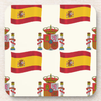 Flag and Crest of Spain Coaster