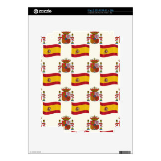 Flag and Crest of Spain iPad 2 Decal
