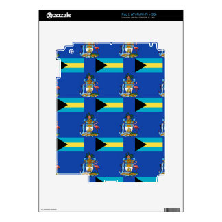 Flag and Crest of the Bahamas Decals For iPad 2