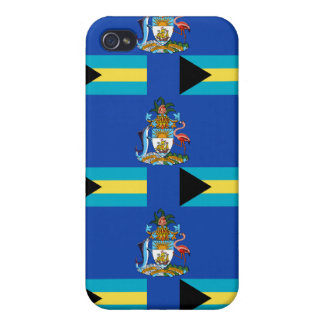 Flag and Crest of the Bahamas iPhone 4/4S Case