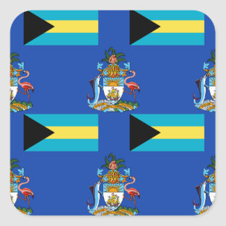 Flag and Crest of the Bahamas Stickers