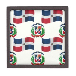 Flag and Crest of the Dominican Republic Premium Keepsake Boxes