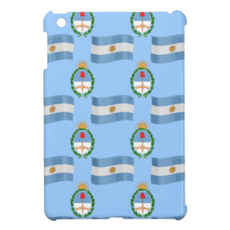 Flag and Crest Pattern Argentina iPad Mini Covers