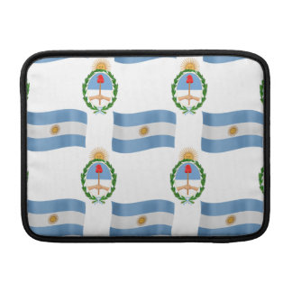 Flag and Crest Pattern Argentina MacBook Air Sleeves