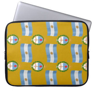 Flag and Crest Pattern Argentina Laptop Computer Sleeve