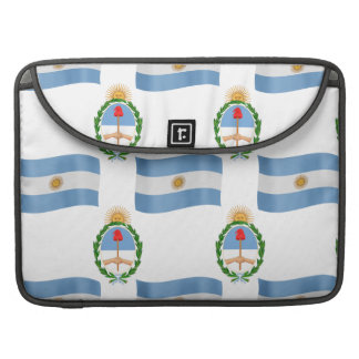 Flag and Crest Pattern Argentina Sleeve For MacBooks