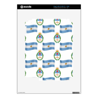 Flag and Crest Pattern Argentina Skins For The iPad 2