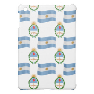 Flag and Crest Pern Argentina Case For The iPad Mini