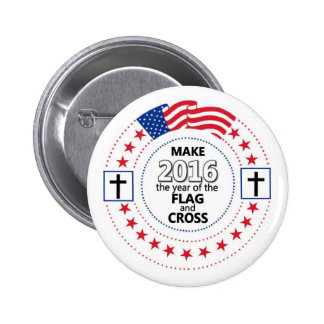 Flag and Cross Button