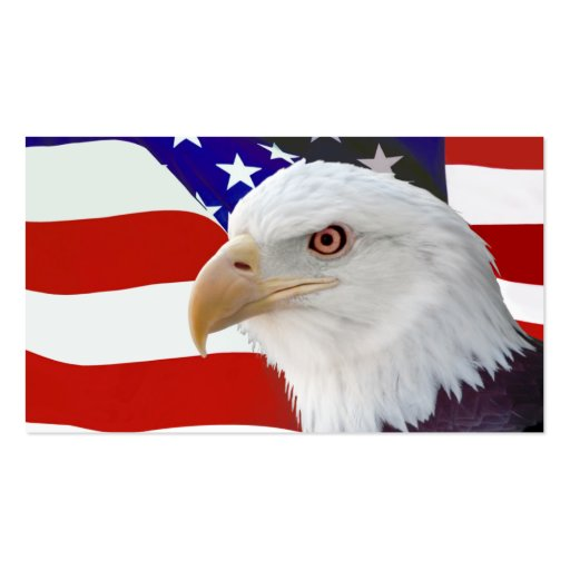 Flag and Eagle Business Card Template
