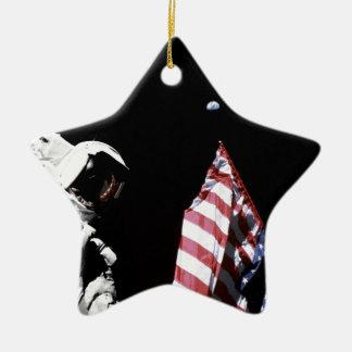 Flag and Earth Christmas Ornaments