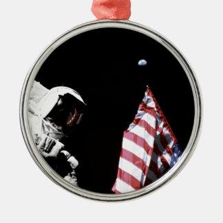 Flag and Earth Christmas Ornament