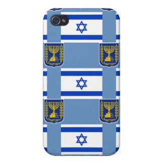 Flag and Emblem of Israel Cover For iPhone 4