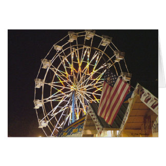 Flag and Ferris Wheel at the Fair Greeting Cards