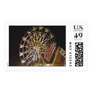Flag and Ferris Wheel at the Fair Postage Stamp