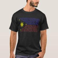 Flag and Filipino delicacies T-Shirt