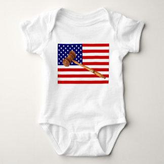 FLAG AND GAVEL BABY BODYSUIT