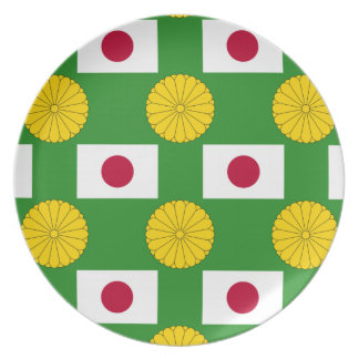 Flag and Imperial Seal of Japan Plate