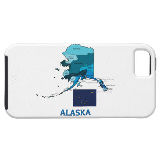 Flag and Map of Alaska iPhone 5 Cases